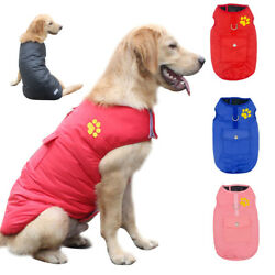 Waterproof Dog Winter Clothes for Small Medium Large Dogs Pink Coat Warm Jacket $12.99