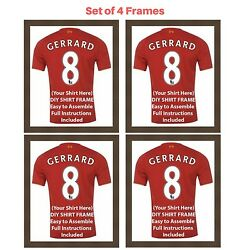 4 X Frame For Football Rugby And Cricket Shirts | Ready Made Shirt Diy Frames