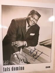 Fats Domino Signed Photo Autographed In Person Coa Album Lp 7 Hall Of Fame