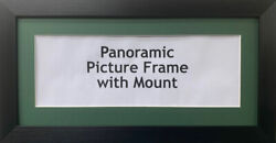 Panoramic Picture Photo Print Poster Frame - Green Mount   Multiple Sizes Photo