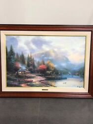 24x36 The End Of A Perfect Day Iii By Thomas Kinkade
