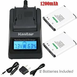 EN-EL19 Battery & Fast Charger for Nikon Coolpix S3200 S3300,Sony NP-BJ1 DSC-RX0