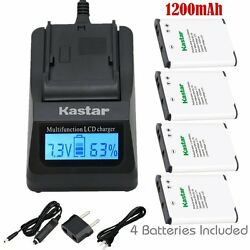 EN-EL19 Battery & Fast Charger for Nikon Coolpix S6900 S7000,Sony NP-BJ1 DSC-RX0