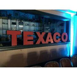 Vintage Texaco Service Gas Station Sign For Mancave Hot Rod Sbc Ford Mustang Fan