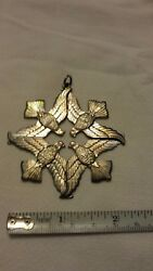 Wallace Sterling Silver 1971 Peace On Earth Dove Christmas Ornament 1st Edition