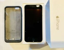Apple Iphone 6 - 64gb - Space Gray Atandt + Apple Smart Charge Case.