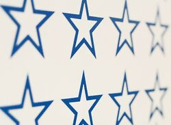 Star Outline 5 point Vinyl Wall Art Decals Stickers Various Colours amp; Sizes