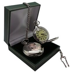 YORKSHIRE REGIMENT Engraved Personalised Army Pocket Watch & Chain Luxury Case