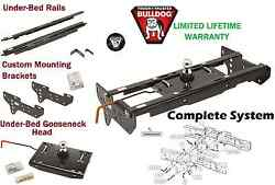 Bulldog Complete Underbed Gooseneck Trailer Hitch System 08-16 Ford F450 F-450