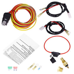 40 Amp 165 To 185 Dual Electric Fan Relay Wiring Harness Thermostat Sensor