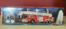 Sunoco Aerial Tower Fire Truck 1995 135 Scale With Box Collectorand039s Series 2