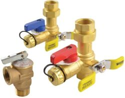 Rheem Unfinished Brass Tankless Service Valves Replacement Gas Water Heater Part