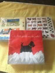 Scottie Dog Napkins 3 different packages of Beverage Napkins