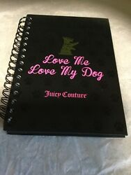 Scotty Dog Scottish Terrier Ring Binder Note Pad. Juicy Couture. Black