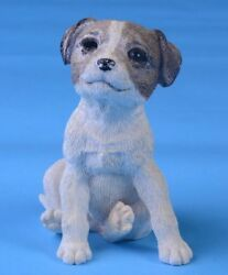 Jack Russell Terrier Dog Sitting Figurine Resin Home Decor Dog Lover Collectors
