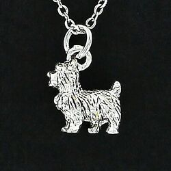 Scottie Dog Necklace - Pewter 3D Charm on Chain Dogs Pet Scottish Terrier NEW