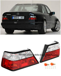 For 86-95 Mb W124 E-class 2dr | 4dr Rear Crystal Clear Brake Lamps Tail Lights