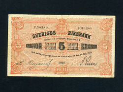 Swedenp-14a5 Kronor1890 Early Type Vf