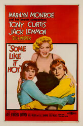 Some Like It Hot 1959 27x41 Orig Movie Poster FFF-01047 Near Mint Marilyn Monroe