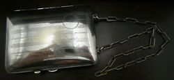 Antique Art Deco Sterling Silver Ladies Dance Coin And Compact Purse - No Monogram