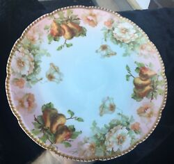 13 Prussia Royal Rudolstadt Beyer And Bock Hand Painted Charger Plate