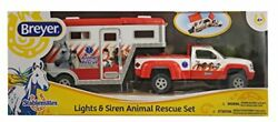 Breyer Stablemates Animal Rescue Truck and Horse Trailer Vehicle New