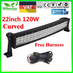 Curved 22 Inch 120w Led Work Light Bar Ute Suv Atv Offroad 4x4 Truck Tractor Atv