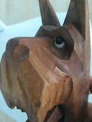Vintage Carved Wooden Nutcracker Scottish Terrier Dog