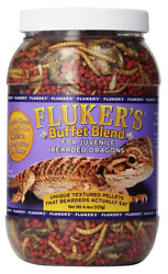 Flukers Buffet Blend Juvenile Bearded Dragon Food Pellets Small Reptile Vitamins