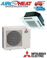 MITSUBISHI - P SERIES STRAIGHT COOL CASSETTE MINI SPLIT SYSTEM 30000 BTU 23 SEER