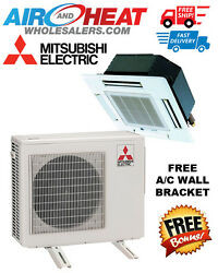 MITSUBISHI P SERIES HEAT PUMP CASSETTE MINI SPLIT 30K BTU 22 SEER (WALL BRACKET)