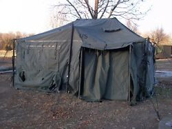 Us Military Surplus 18x18 Mgpts Tent Hunting Camping Army Truck Trailer
