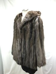 TOP VALUE REAL RUSSIAN FUR FARMED SABLE HOODIE LADY JACKET - ELEGANT EXPENSIVE