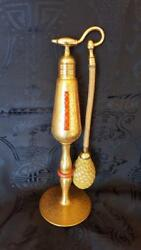 Rare 1920and039s Volupte Imperial Size 22 Kt Gold Perfume Atomizer Bottle 9.5 Tall
