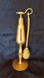Rare 1920's Volupte Imperial Size 22 Kt Gold Perfume Atomizer Bottle 9.5 Tall