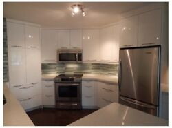 IKEA Ringhult high gloss white cabinets (Selling entire Kitchen Contact for