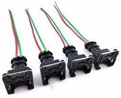 Fits Rc Fuel Injector Connector Wiring Harness Plug Clip Bosch Ev1 Pigtail Obd1