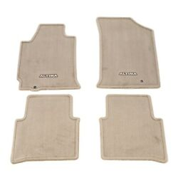 2008-2012 Nissan Altima Beige Tan Carpeted Floor Mats Front And Rear Set Oem New
