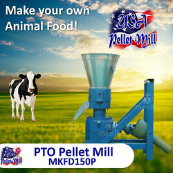 Pto Pellet Mill For Cowand039s Food - Mkfd150p - Free Shipping