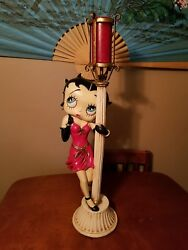 Vintage Betty Boop Rare Large Lamp Pole Statue Figurine/candle Holder