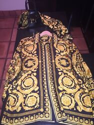 Gianni Versace Vintage 90and039s Silk Shirt With Matching Silk Scarf