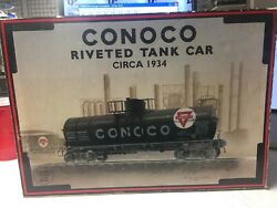 1994 Conoco K-line O And O27 Scale K-639104 Riveted Tank Car Bank And Display