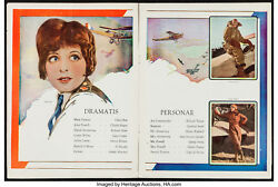 Movie Poster Wings 1927 Program 20 Pages 9x10 Vf-7 Clara Bow