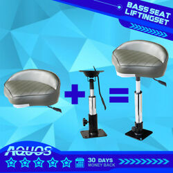 360anddegswivel Bass Seat With Adjustable Height Power Pedestal Seat Mount 20-30