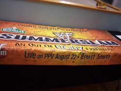 Wwf Summer Slam 1999 Banner Signed By 100 Superstars And Hall Of Famers Wwf