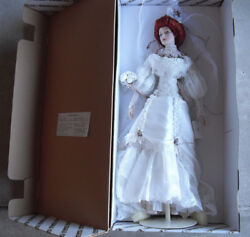 Rare Franklin Mint Porcelain Gibson Girl Bride Prototype Doll 21 Tall In Box
