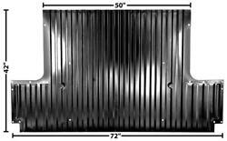 1967-72 Chevrolet Pickup Rear Floor Section For 6.5-feet Bed New