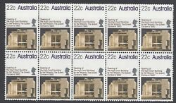 Australia 1980 High Court Building Block Of 10 Stamps