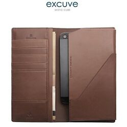 Excuve Genuine Leather Bifold Hybrid Clutch Wallet & Smart Phone Case LX5