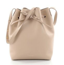 Mansur Gavriel Brand New With Tags and Dust Bag Bucket Bag Leather Large Beige